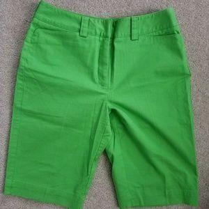 NWOT TALBOTS Green Bermuda Shorts